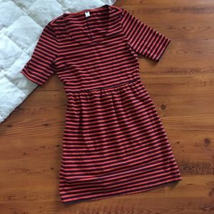 Old Navy Striped Fit & Flare Dress Size M